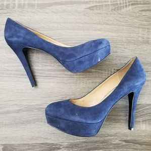 Nine west faux suede heels New